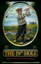 19th Hole Best Shots Metal Pub Sign
