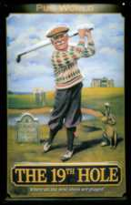 19th Hole Metal Pub Sign