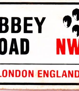 ABBEY ROAD RUSTY TIN SIGN