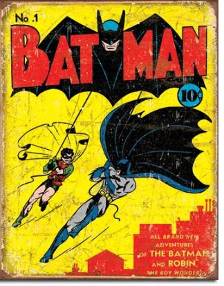 BATMAN NUMBER ONE COVER LARGE METAL SIGNS