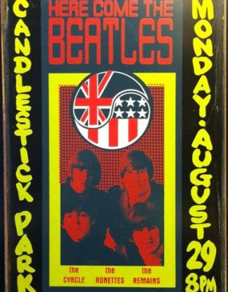 BEATLES HERE COMES THE BEATLES RUSTY TIN SIGN