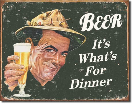 BEER WHAT IS BREAKFAST FOR LARGE METAL SIGNS