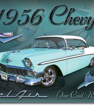 BELAIR CHEVY 1956 ONE COOL RIDE LARGE METAL SIGNS