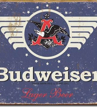 BUDWEISER BEER LARGE METAL SIGNS