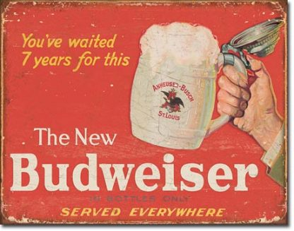 BUDWEISER DRINK LARGE METAL SIGNS