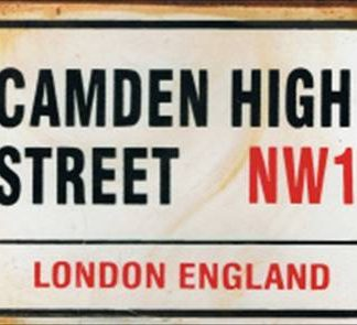 CAMDEN HIGH STREET RUSTY TIN SIGN