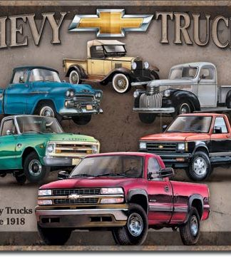 CHEVY TRUCKS LARGE METAL SIGNS