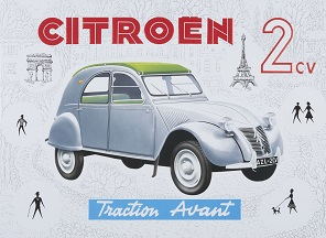 CITROEN 2CV PARIS LARGE METAL SIGNS