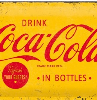 COCA COLA DRINK REFRESH YOUR GUESTS MEDIUM SIZE METAL SIGNS