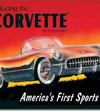 CORVETTE AMERICA'S FIRST SPORTS CAR LARGE METAL SIGNS