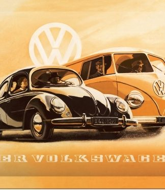 DER VOLKSWAGEN SMALL EMBOSSED METAL SIGNS
