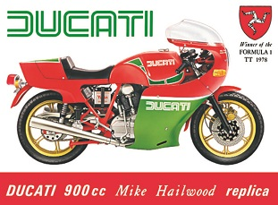 DUCATI 900 CC LARGE METAL SIGNS