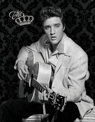ELVIS PRESLEY THE KING METAL SIGN