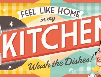 FEEL LIKE HOME IN MY KITCHEN LONG 3 D METAL SIGNS