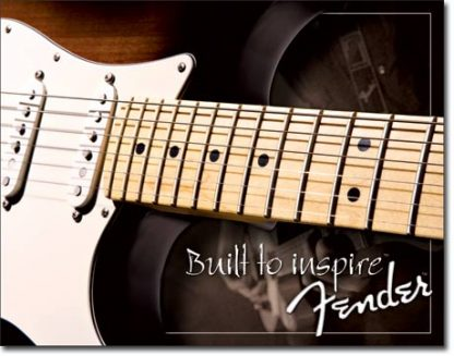 FENDER BUILT TO INSPIRE LARGE METAL SIGNS