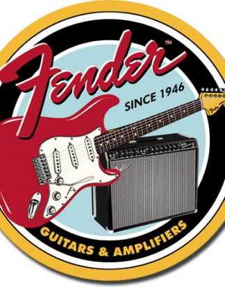FENDER ROUND G & A LARGE METAL SIGNS