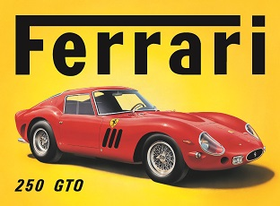 FERRARI 250 GTO LARGE METAL SIGNS
