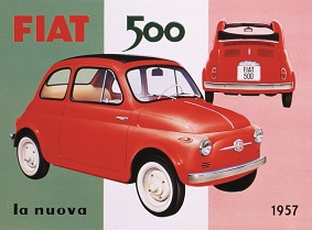 FIAT 500 1957 LA NUOVA LARGE METAL SIGNS