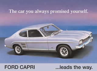 FORD CAPRI ... LEADS THE WAY LARGE METAL SIGNS