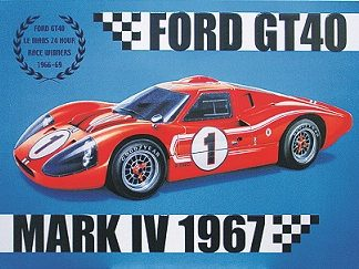 FORD GT40 LARGE METAL SIGNS