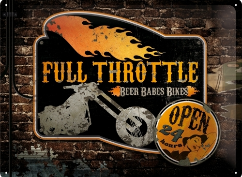 FULL THROTTLE METAL SIGN