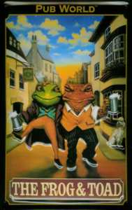 Frog & Toad Metal Pub Sign