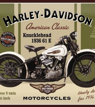 HARLEY DAVIDSON KNUCKLEHEAD 1936 LARGE METAL SIGNS