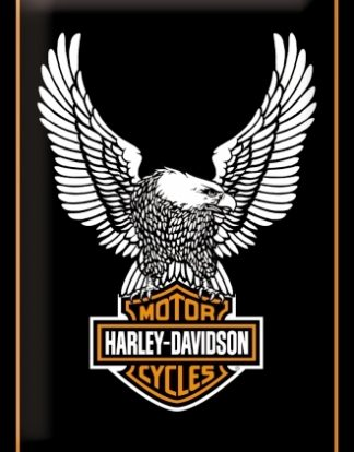 HARLEY DAVIDSON MOTORCYCLES EAGLE LOGO MEDIUM 3D TIN SIGN