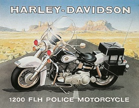 HARLEY DAVIDSON POLICE TIN SIGN LARGE METAL SIGNS