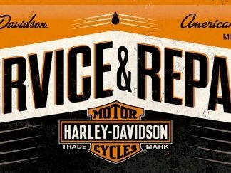 HARLEY DAVIDSON SERVICE & REPAIR LONG 3 D METAL SIGNS