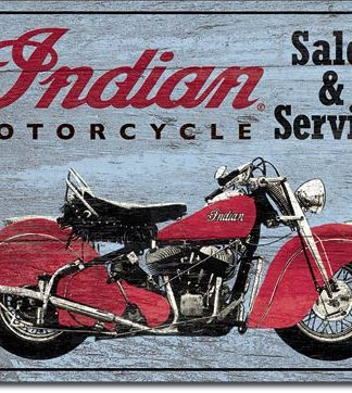 INDIAN MOTORCYCLE PARTS AND REPAIRS LARGE METAL SIGNS