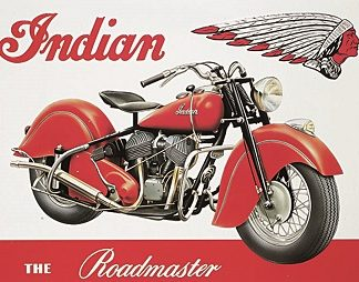 INDIAN THE ROAD MASTER LARGE METAL SIGNS