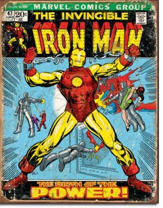IRONMAN COMIC COVER LARGE METAL SIGNS