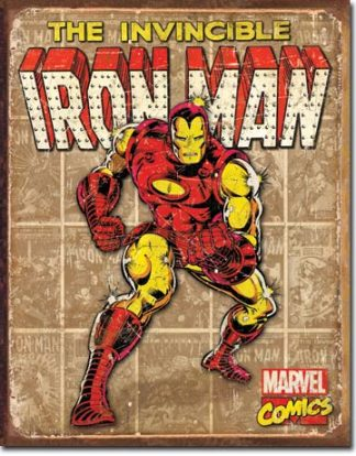 MARVEL HEROES LARGE METAL SIGNS