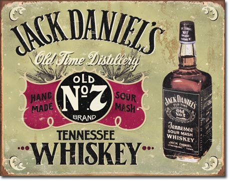 JACK DANIEL'S HAND MADE LARGE METAL SIGNS