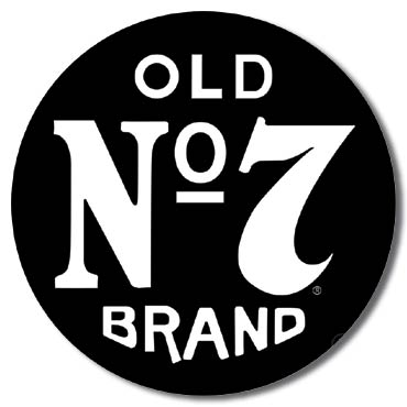 JACK DANIEL'S OLD NO 7 ROUND LARGE METAL SIGNS