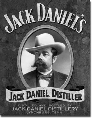 JACK DANIEL'S PORTRAIT LARGE METAL SIGNS