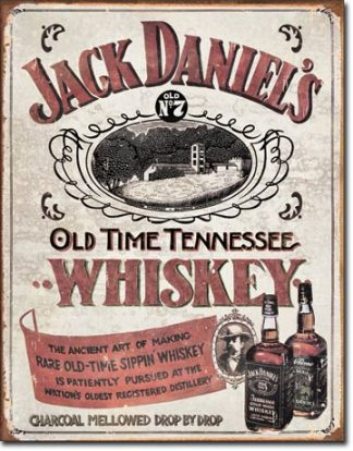 JACK DANIEL'S SIPPIN WHISKEY LARGE METAL SIGNS