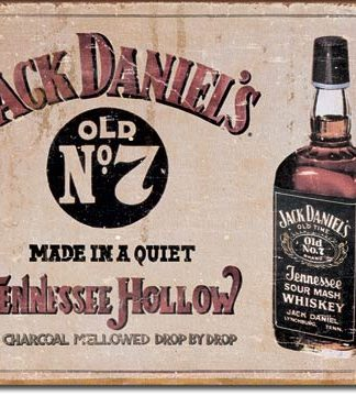 JACK DANIEL'S TENNESSEE HOLLOW LARGE METAL SIGNS