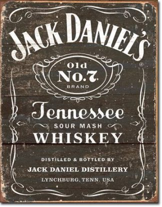 JACK DANIEL'S WEATHERED BLACK LABEL LOGO LARGE METAL SIGNS