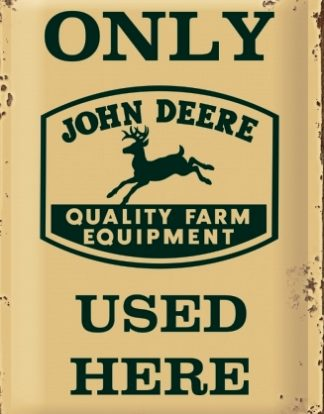 JOHN DEERE TRACTORS MEDIUM SIZE METAL SIGNS