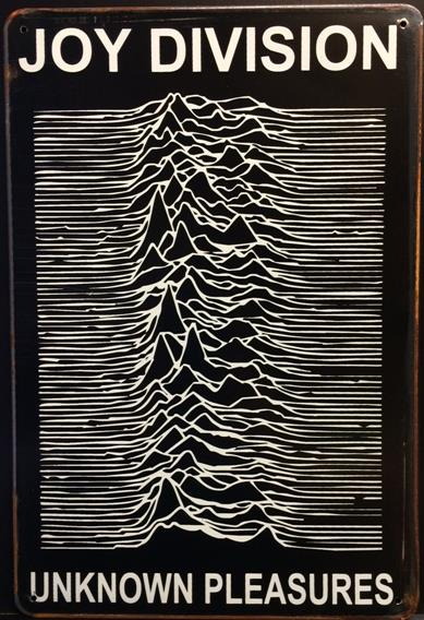 JOY DIVISION UNKNOWN PLEASURES RUSTY TIN SIGN