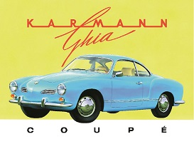 KARMAN GHIA COUPE LARGE METAL SIGNS