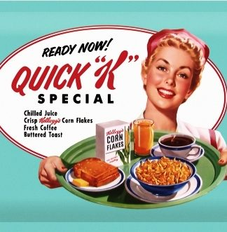 "KELLOGG'S QUICK "" K "" SPECIAL MEDIUM SIZE METAL SIGNS"