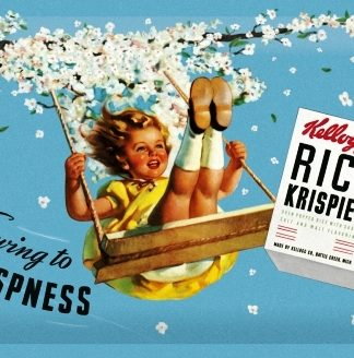 KELLOGG'S PRODUCTS MEDIUM EMBOSSED METAL SIGNS
