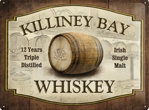 KILLINEY BAY WHISKEY METAL SIGN