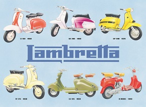 LAMBRETTA COLLAGE LARGE METAL SIGNS