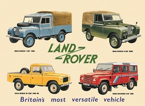 LANDROVER COLLAGE LARGE METAL SIGNS