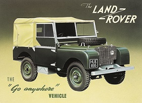 LANDROVER SERIES 1 LARGE METAL SIGNS