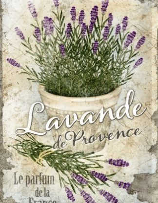 LAVANDE PROVENCE  MEDIUM SIZE METAL SIGNS